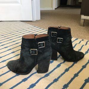 Lucky Brand Heeled Black Booties
